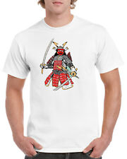 Colorful Samurai Armor Illustration 100% Cotton T-Shirt