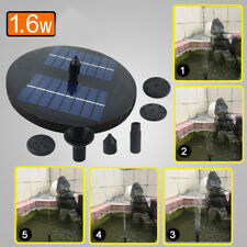 1.6 W Solar Water Pump w/ LED Lights Outdoor Watering Submersible Water Fountain