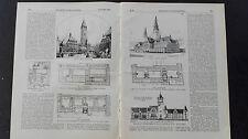1903 n91 Rathaus Kiel / Berlin Brandenburger Tor