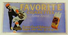 Favorite Cigarette Trolley Sign featuring baseball player (Reproduction)