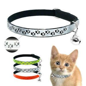 20pcs Wholesale Reflective Cat Collar Pet Kitten Small Dog Puppy ID Name Tags