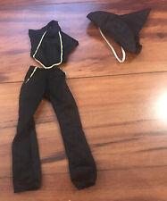 Lot Barbie Black Top Pants & Witch Hat Halloween Costume