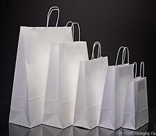 More details for white paper bags twist handle party and gift carrier / paper bags with handles