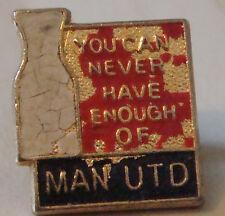 Manchester United acaba de no puede suficiente Vintage Insignia Broche Pin 17 Mm x 20 mm