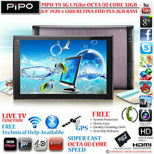 "PIPO t9s 3g 32gb GPS 1.7g OCTA CORE 8.9"" Retina PLS 4.4 Android TEL TABLET PC"