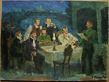 Russian Ukrainian Soviet Oil Painting group portrait imperial genre historical