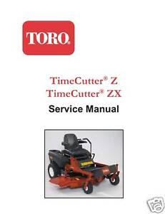 Toro TimeCutter Z & ZX Service Manual