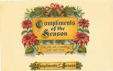 Compliments of the Season Christmas inner cigar label