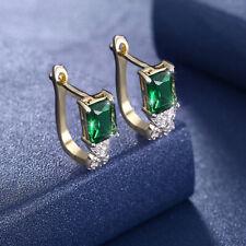 925 Sterling Silver Swarovski Crystal Elements Oval Rivoli Lever Back Earrings