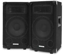 """2x ENCEINTES SONO DJ PA DISCO HAUT PARLEUR 3 VOIES SUBWOOFER 8"""" (20CM) 600W"""