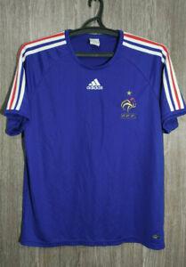 Adidas FRANCE Soccer National Team 2007 Football Jersey Shirt Top Mens Size L