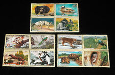 U.N.2001, ENDANGERED SPECIES,  BLKS/4, MNH, ALL 3 OFFICES NICE!! LQQK!!!