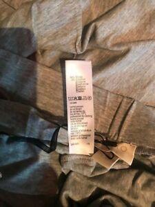 Hanro cropped yoga pant leggings size large NWT grey