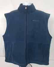 Columbia Cathedral Peak Fleece Vest Size XL WM1480 Navy Blue