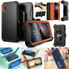 Rugged Armor Phone Case For LG Samsung iPhone Motorola+Clip Holster Fit Otterbox