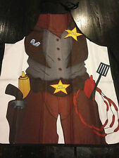 Cowboy Sheriff Cook Kitchen Dad BBQ Chef Apron Fun Party Novelty Costume