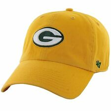 '47 Brand NFL Green Bay Packers Men's Yellow Clean Up Cap Retro Dad Hat New