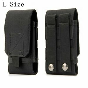 Heavy Duty Large Belt Cell Phone Pouch Case Clip Holster Carrying Phones Holder