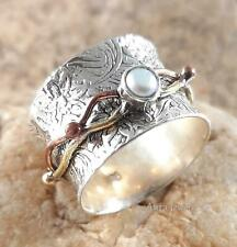 Cultured Pearl Gemstone 925 Sterling Silver Ring Jewelry A3905