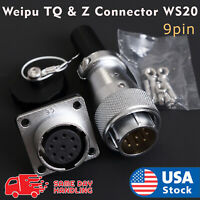 Weipu TQ & Z Aviation Plug 9Pin 20mm Ws20 Metal Male Female Panel Connector Ws
