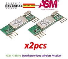 2pcs RXB6 433MHz Superheterodyne Wireless Receiver Module RXB6