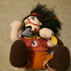 Florida State FSU Seminoles Chief Osceola Stuffed 1987 Mascot working vintage