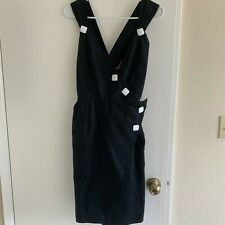 Vintage Yves Saint Laurent Rive Gauche Black Dress Sz 36