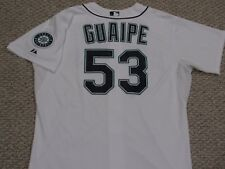 GUAIPE size 52 #53 2015 Seattle Mariners game used jersey Home White MLB HOLO