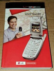 Verizon LG VX4400B Cell Phone User Guide-Flip Phone-In English & Spanish