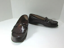Women's Vintage Leather Pimento Brown Oxford Shoes 9 M