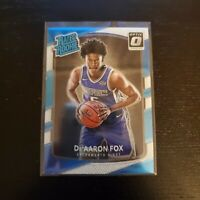 2017-18 Donruss Optic DeAaron Fox RC Chrome Kings Panini Rated Rookie Card