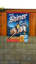 Shiner Bock Rodeo Country craft beer Texas banner poster sign bar pub