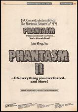 "PHANTASM II__Original ""1979"" Trade AD / poster_horror promo__DON COSCARELLI_1988"