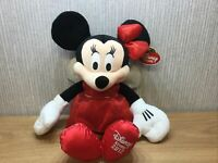 Disney Store Minnie Mouse Plush New Soft Toy Teddy 17 Inch Large Red Dress 2012