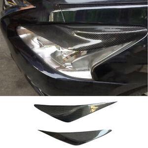 For Nissan Teana Altima 2013-15 carbon fiber front headlight eyebrow strip trim