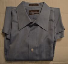 MEN'S DRESS SHIRT~NORDSTROM~SIZE 17/35~BLUE~TRADITIONAL FIT~WRINKLE FREE COTTON