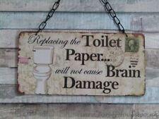 Rectangle Contemporary Toilet Decorative Plaques & Signs