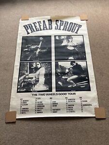 "Prefab Sprout Tour Poster ""Two Wheels Good"" Tour Original 1980s Advert (Huge)"