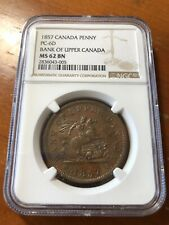 Canada 1857 Penny - Bank of Upper Canada - PC-6D - NGC MS62BN