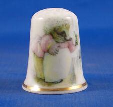 Birchcroft China Thimble -- Beatrix Potter - Mrs Tiggy Winkle -  Free  Gift Box