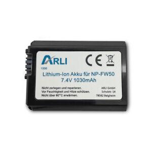 Akku für Sony NP-FW50 Alpha 7 5000 5100 6000 Cyber Shot RSCRX10 NPFW50 A33 A55