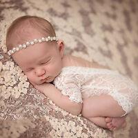 Summer Newborn Baby Boys Romper Lace Girls Bodysuit Photo Props Costume Floral