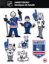 NHL NEW YORK RANGERS STICK PEOPLE FAMILY DECALS ~ FULL COLOR VINYL DECALS