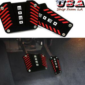 Black MOMO Style Non Slip Sport Pedal Brake Pad Cover for Automatic Transmission