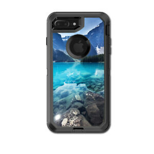 Skin Decal for Otterbox Defender iPhone 7 PLUS Case / Mountain lake, clear water