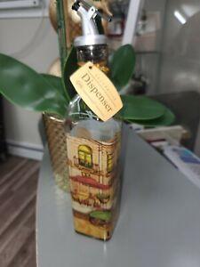 Oil Or Vinegar Glass Bottle Dispenser.