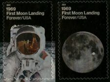 Apollo 11 Moon Landing 50 years mint self-adhesive pair of stamps 2019 USA
