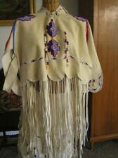 Native American Commanche Oklahoma Regalia Beaded Dress Doeskin traditional XS