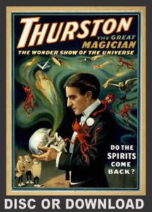 Make and Sell VINTAGE MAGICIAN PRINTS - Restored Images Collection Disc/Download