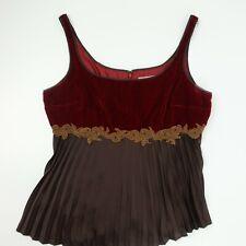 Bandolino Red Brown Sleeveless Blouse Shirt Women's Size 10